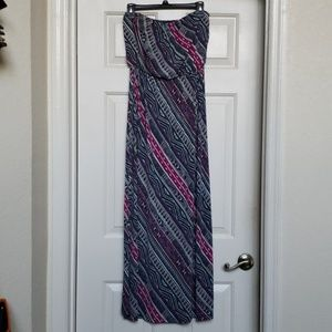 Strapless Maxi Dress- Size Medium